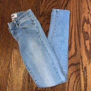 Paige Light Wash skinny jeans